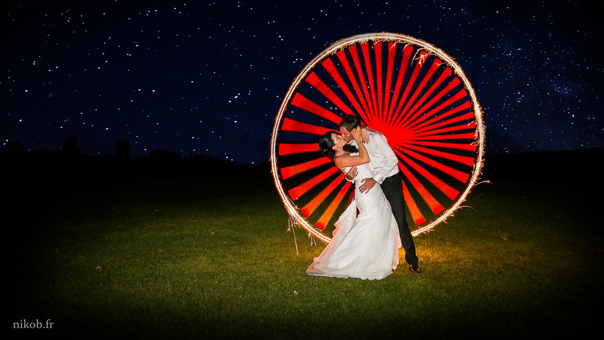 mariage lightpainting